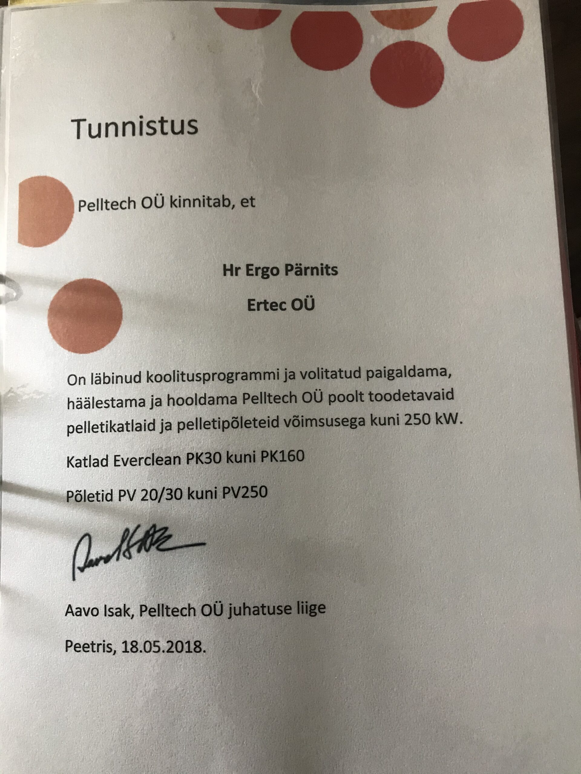Tunnistus Pelltech